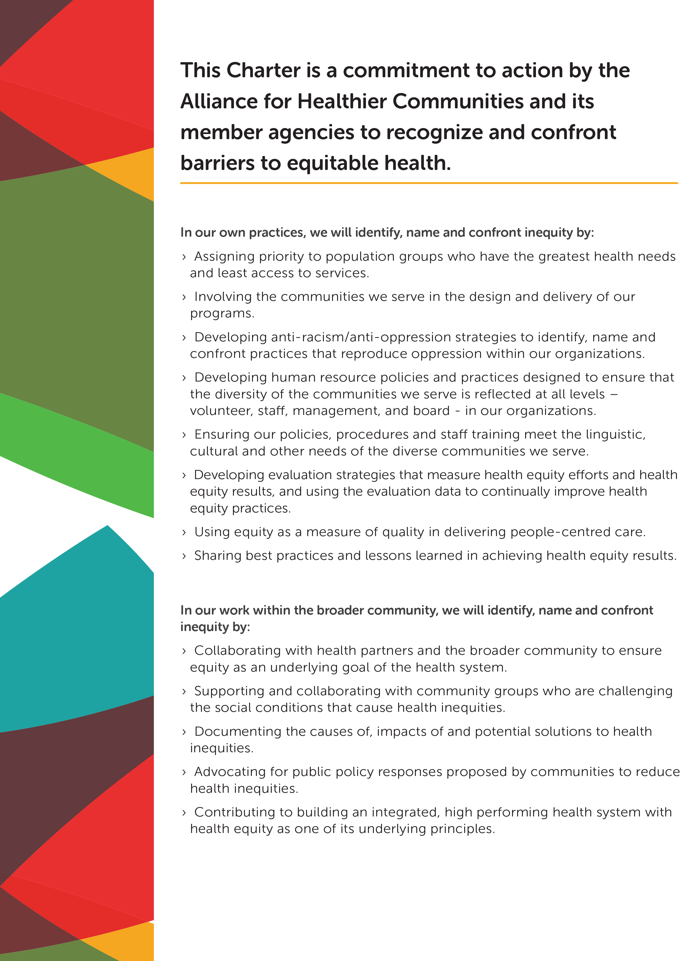 Health Equity Charter page 2