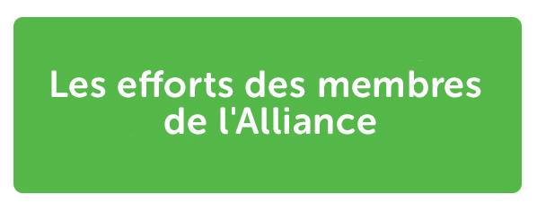 Les efforts des membres de l'Alliance